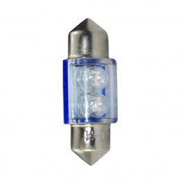 ΛΑΜΠΑΚΙΑ ΠΛΑΦΟΝΙΕΡΑΣ C5W/C10W 12V 0,26W SV8,5 31mm ΛΑΜΠΑΚΙΑ LED 2xFlux 3mm ΜΠΛΕ BLISTER M-TECH - 2 ΤΕΜ.