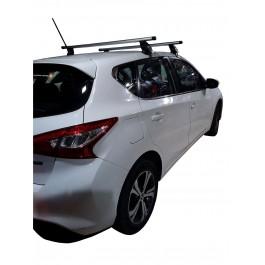 Μπαρες για Μπαγκαζιερα - Kit Μπάρες Αλουμινίου - Πόδια Menabo για Nissan Pulsar 2014+