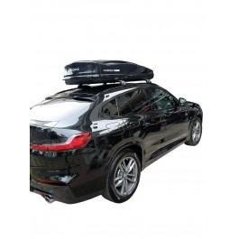 Μπαρες για Μπαγκαζιερα - Kit Μπάρες Nordrive - Πόδια - Μπαγκαζιέρα Οροφής D-Box 530 Μαύρη Γυαλιστερή για BMW X4 2018+ 2 τεμάχια