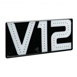 Αυτοκόλλητο Σήμα V12, 24V, 22x10cm Φωτιζόμενο Αυτοκόλλητα Φορτηγών