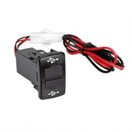 Διπλός Φορτιστής  USB, 12 / 24V 3000 mA max για Scania Διακόπτες και Καλωδίωση Φορτηγού Αξεσουαρ Αυτοκινητου - ctd.gr