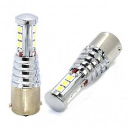 P21W 12V BA15s LED 9x3030chip PREMIUM LG ΛΕΥΚΟ (ΜΟΝΟΠΟΛΙΚΟ) 1ΤΕΜ. M-TECH Λαμπάκια LED