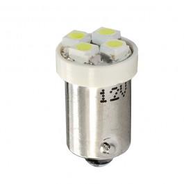 Λαμπες LED Αυτοκινητου - T4W 12V 0,32W BA9s (ΜΙΝΙΟΝ) LED 4xSMD3528 ΛΕΥΚΟ BLISTER 2ΤΕΜ. M-TECH Λαμπάκια LED Αξεσουαρ Αυτοκινητου - ctd.gr